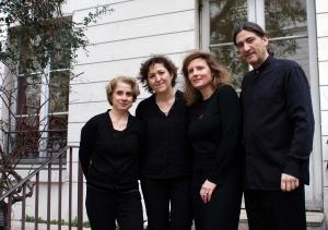 Françoise Ducos, Myriam Chiapparin, Elise Patou, François Veilhan / crédit photo Véronica Mecchia